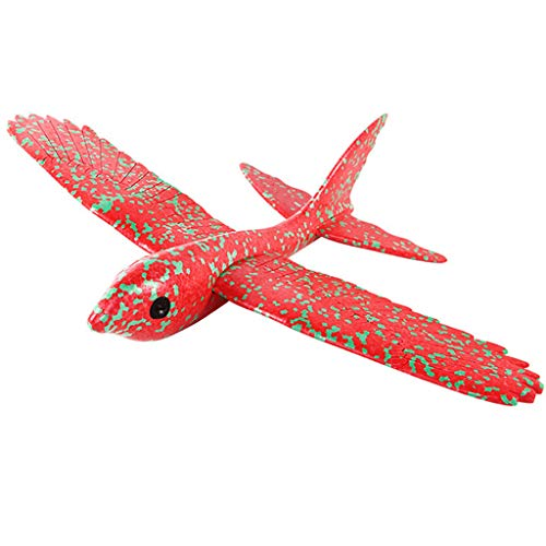 Guo Nuoen Gift for Kid Flying Foam Throwing Glider Airplane Inertia Aircraft Toy Hand Launch Airplane Fly Bird Model -
