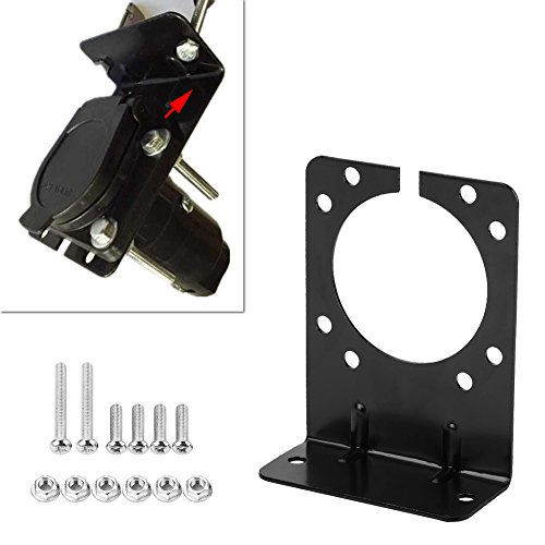 connector-socket-mounting-bracket-right-angle-plug-socket-bracket-for-7-pin-caravan-towing-trailer-connector-with-complete-screws-nuts-black