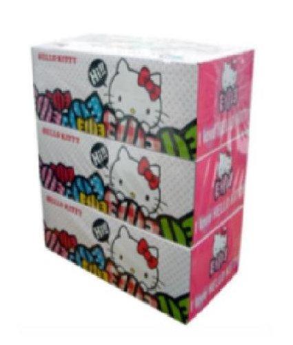 Hello Kitty Novelty Tissue 3 Boxes