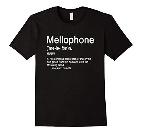 Mens Mellophone Definition Marching Band Music Musician T-shirt Large Black