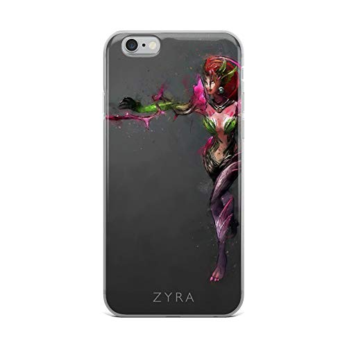 iPhone 6 Plus/6s Plus Case Anti-Scratch Gamer Video Game Transparent Cases Cover Zyra Gaming Computer Crystal Clear
