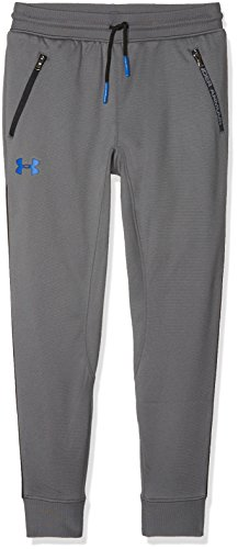 Under Armour Boys' Pennant Tapered Pants,Graphite /Ultra Blue, Youth Medium -