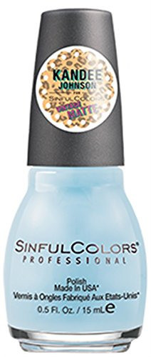 (Sinful Colors Professional Nail Polish Kandee Johnson Vintage Matte Collection #2269 Candy Hearts (Powder Blue Matte))