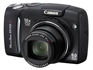 Canon Powershot SX110IS 9MP Digital Camera with 10x Optical Image Stabilized Zoom (Black)