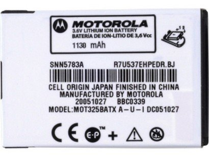 Original Motorola BT61 1130mAh Extended Lithium Li-Ion Battery OEM SNN5783for Motorola Q / MOTORIZR Z6tv / ROKR Z6m / V323 / V325 / (Motorola Phone Q)