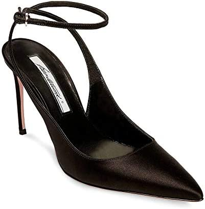 Brian Atwood VERUSKA Pointy Toe Pump Black Leather Pointed Toe Stiletto Heels