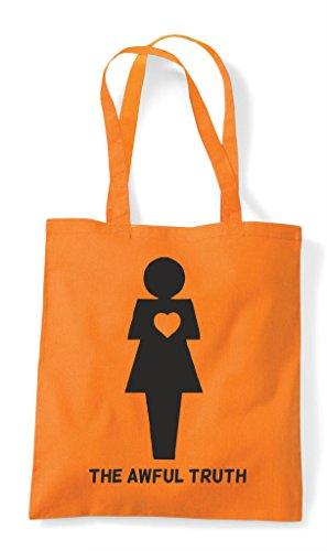 Woman Bag Tote Awful Gender Shopper The Orange Heart Figures Truth RqxXvB