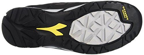 Diadora D-Trail Low S3 Sra Hro, Calzado de Protección para Hombre Rojo (Antracite/nero)