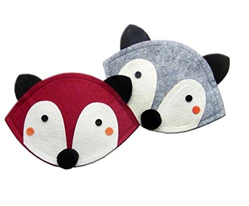 Handmade Very Cute Fox Shoulder Bag (Grey)