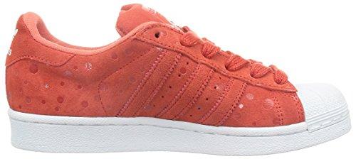 punainen Naisten Valkoinen Monivärisiä Kouluttajat Superstar Adidas xwT0q8P86