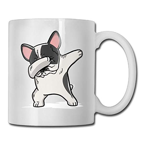 Pied French Bulldog (Funny Dabbing Pied French Bulldog Dog Special Coffee/Tea Mug.Birthday Gift For Men&Women,Mom,Dad,Sister,Boyfriend)