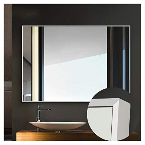 GLJJQMY Bathroom Mirror Dormitory Dressing Table Mirror with Frame Wall Mounted Wash Basin Mirror Wall Mirror (Color : White, Size : 45cmX60cm) (Wall Mounted Washbasin)