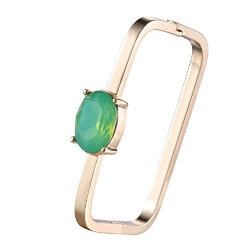 JW Collection Women Tension Colorful Crystal Bracelets Copper (Red Jade 14kt Bracelet)