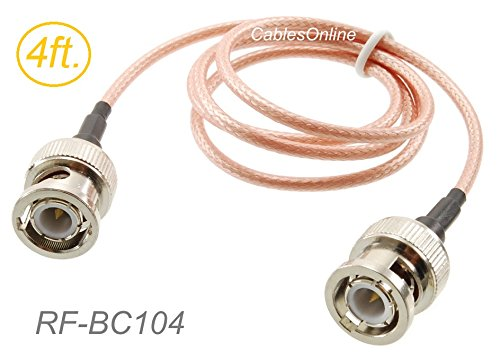 CablesOnline, 4ft. BNC Male to BNC Male RG316 Coax Low Loss RF Cable, RF-BC104
