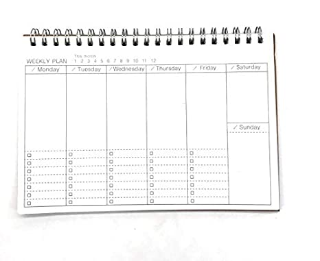 Amazon.com: Dart3089 Weekly Monthly Planner Notebooks ...