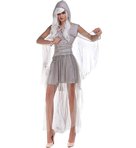 Eternatastic Women's Ghost Costume Spirit Haunting Beauty with (Haunting Beauty Adult Costumes)