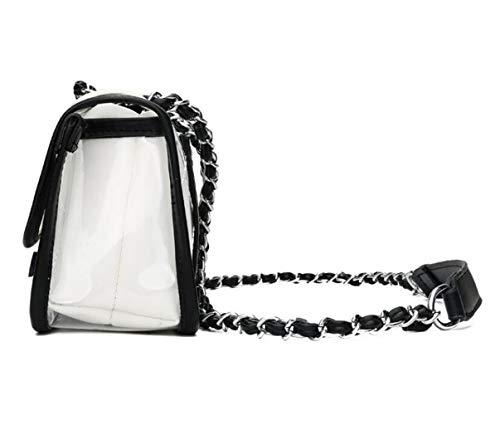 Size Piezas Hombro Mujer Crossbody One Bolso 2 de Tamaño Blanco Blanco Transparente Color para 0fUxxOwq