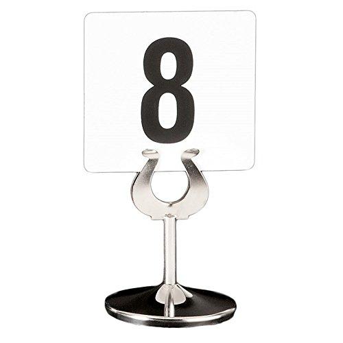 Garcia de Pou Stainless Steel Holder for Table Card Numbers, 10.2 cm, Silver, One Size by Garcia de Pou