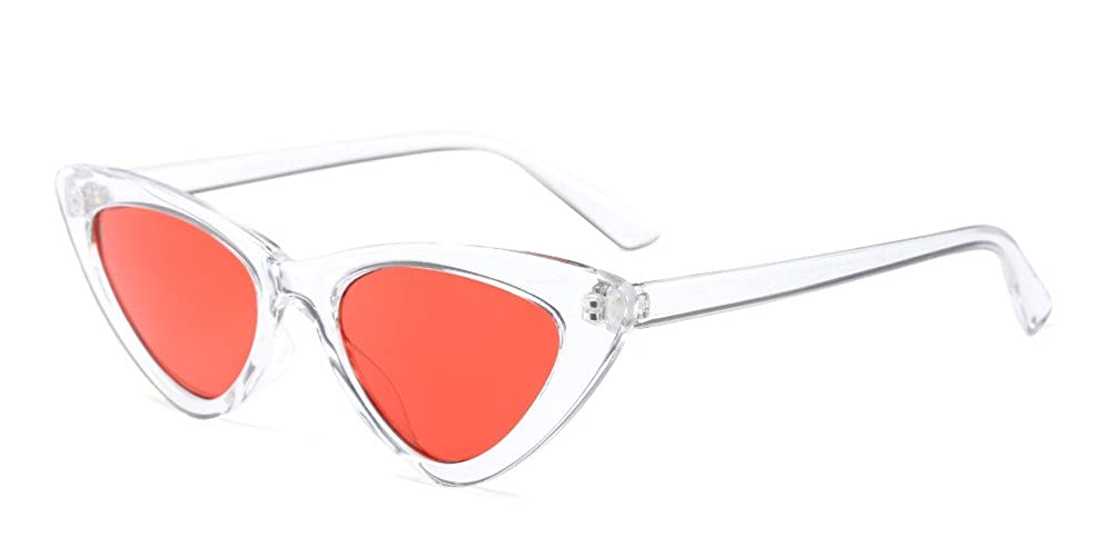 BOZEVON Women Triangle Sunglasses - Retro Cool Cat Eye UV400 Eyewear