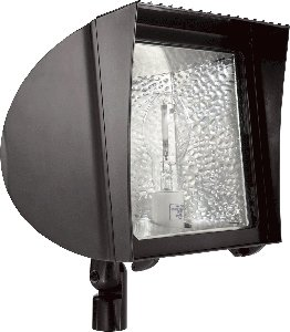 FXH100/480 Rab Lighting FLEXFLOOD 100W MH 480V HPF W/ARM + LAMP BRONZE