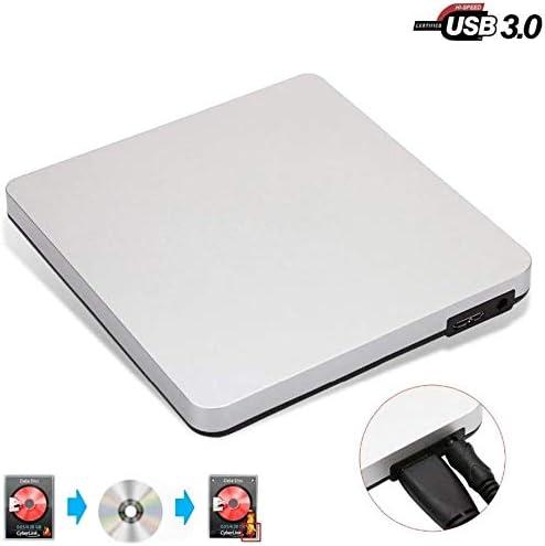 KJRJFD USB 3.0 DVDドライブ、CDと書き換え可能なディスクのサポートWINDOW2000 / XP / 2003 / Vistaの/Linuxの/Mac OS用のポータブルラップトップの超薄型バーナー