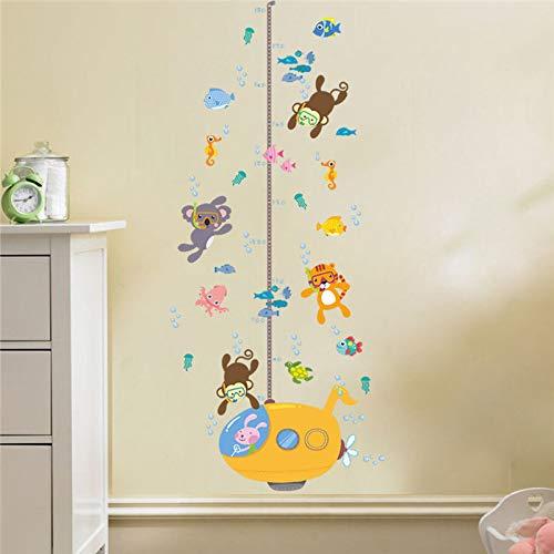 Etiqueta de la pared Forest Monkey Tiger Koala Fish Swim Para ...