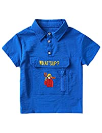 Kids Baby Boys Summer Cotton Short Sleeve Clothes Tops T-Shirt Polo Shirt For 2-9 Years