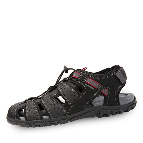 Noir Fermées Geox Homme Sandal Sandales Uomo Strada B HXqHr0x6