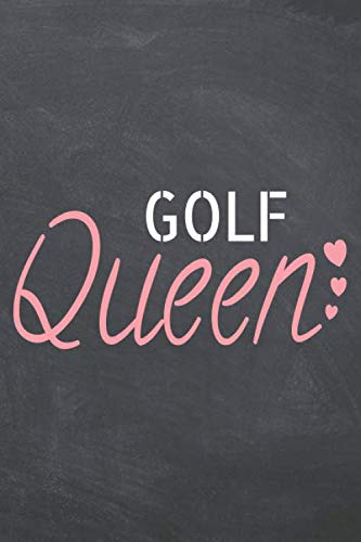 Golf Queen: Golf Notebook, Planner or Journal | Size 6 x 9 | 110 Dot Grid Pages | Office Equipment, Supplies |Funny Golf Gift Idea for Christmas or Birthday