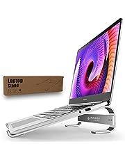 Suporte para laptop para mesa - Riser para laptop para mesa Suporte para notebook, suporte para mesa de laptop de alumínio compatível com Macbook Air Pro Dell XPS HP 10-18 polegadas laptop prata