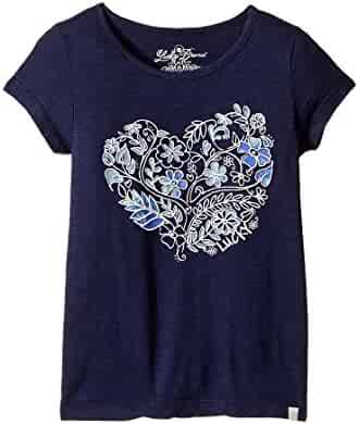 Lucky Brand Girls' Heart T-Shirt