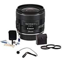 Canon EF 24mm f/2.8 IS USM Lens Bundle. USA. Value Kit with Accessories #534B002