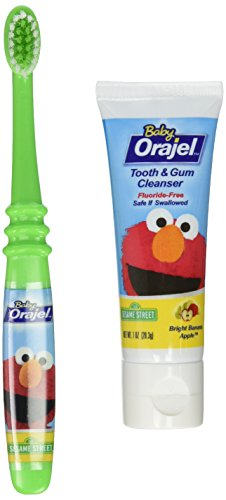 Orajel Baby Tooth/Gum Cleanser, Apple Banana, 1 set, 3 Pack
