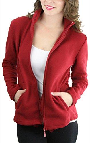 ToBeInStyle Mens Zip Up Long Sleeve High Collar Polar Fleece Jacket