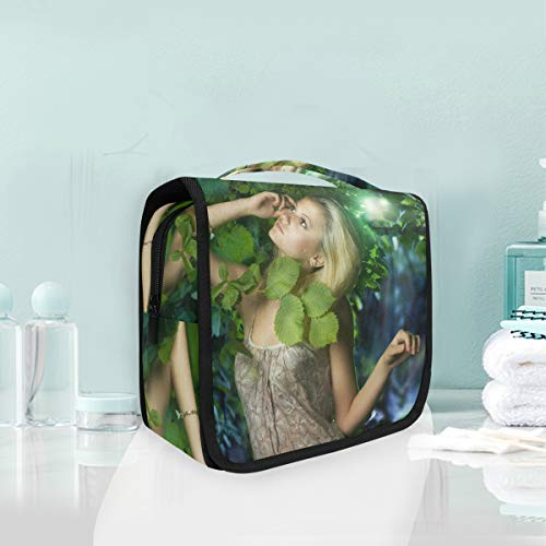 Makeup Cosmetic Bag Beautiful Girl In The Fairy Forest Portable Storage Travel Toiletry Bag]()