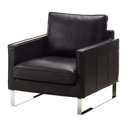 Amazon.com - Ikea Leather Chair, Grann black 826.51414.62 ...