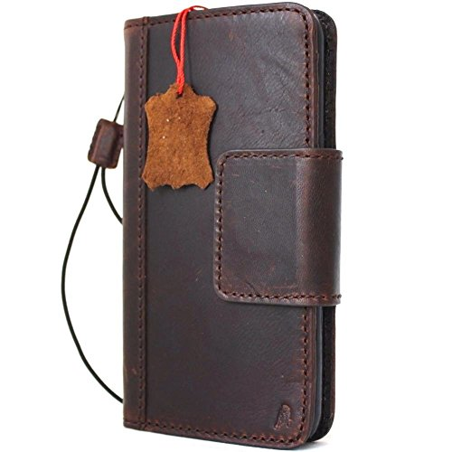 Genuine Leather Case for Samsung Galaxy S8 Plus Book Wallet Luxury Closure Magnetic Cover S Handmade Retro Id Cards Slots Holder daviscase