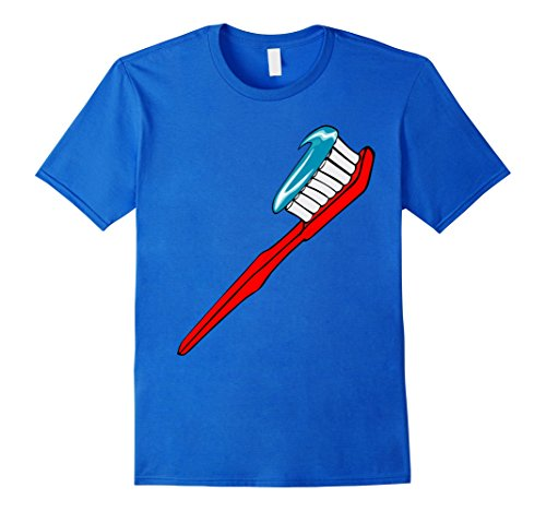 Mens Toothbrush Costume T-Shirt Toothpaste Sparkle Teeth Brushing XL Royal (Toothpaste Costumes)
