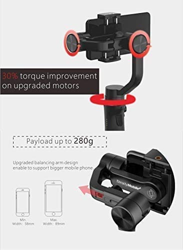 Hohem iSteady Mobile Plus 3-Axis Gimbal Stabilizer for Smartphones iPhone Gimbal with APP Control Handheld Gimbal Stabilizer for iPhone X XR Xs Gimbal Used for Vlog Youtuber