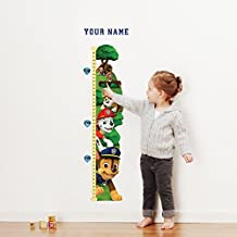 Paw PatrolTM Personalized Growth Chart Wall Decal for Nursery, Kids Room