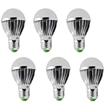 RioRand LED Light Bulb E27 5w 12v Energy Saving High Power Bright White (6 PCS)