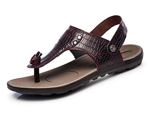 pistoni di parola nuova pelle sandali degli uomini casuale clip punta 2.017 estivi