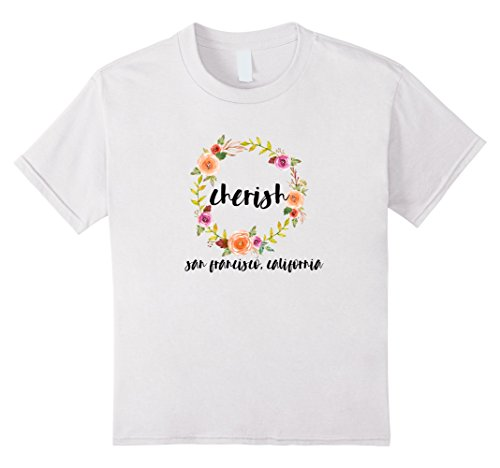 Kids Rush of City Life Cherish T Shirt San Francisco Californi 10 White Cherish Lifes