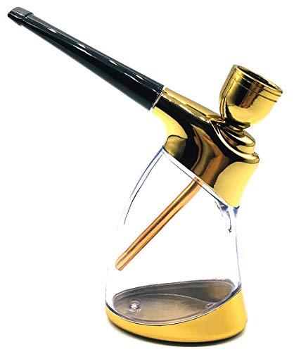 HT9527 Mini Hookah Mini Shisha Portable Hookah Suitable for one-Handed Holding, Gold