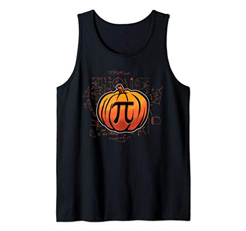 Pumpkin PI Funny Math Lover/Nerd Teacher Student Halloween Tank Top]()