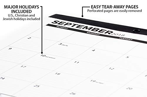 Desk Calendar 2018-2019 (Use Monthly from September 2018 to December 2019) - Large Desk Pad or Wall Calendar - Big Monthly Pages 17'' x 11'' - by Royal Mountain Print Co. by Royal Mountain Print Co. (Image #3)