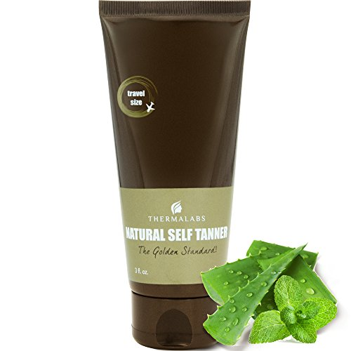Organic Self Tan Lotion 3 oz for Traveling. Bronzing on the go! Ultra Natural Glow Face & Body Tanner. Men & Women Tanners. Gradual Subtle to Dark Sunless Fake Tanning. Express Self-Tan Beauty Lotions