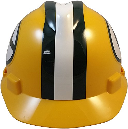 MSA NFL Ratchet Suspension Hardhats - Green Bay Packers Hard Hats by MSA (Image #4)