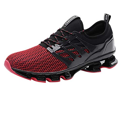 JJLIKER Unisex Fashion Sneakers Mesh Lightweight Breathable Non-Slip Athletic Sport Fitness Jogging Running Shoes