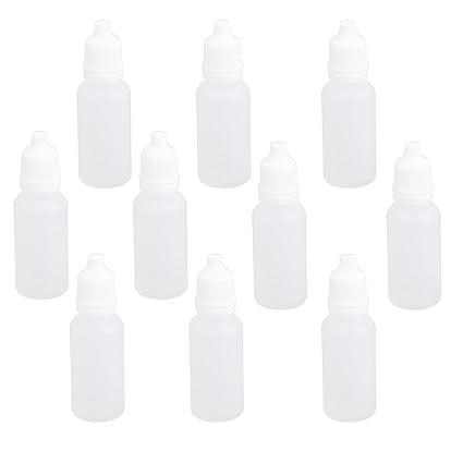 10pcs Plastico Vacias Botellas Cuentagotas Squeezable 15ml De Gotas Para Los Ojos Liquido Laboratorio